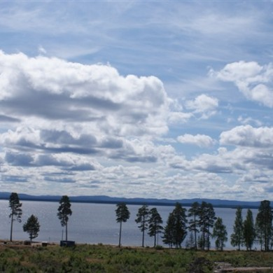 Utsikt över Norrdellen från Dellendröms tomtområde
