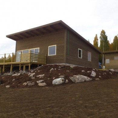 Huset på tomt C14 i stort färdigt
