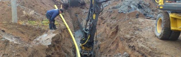 Grävning av vatten och avlopp