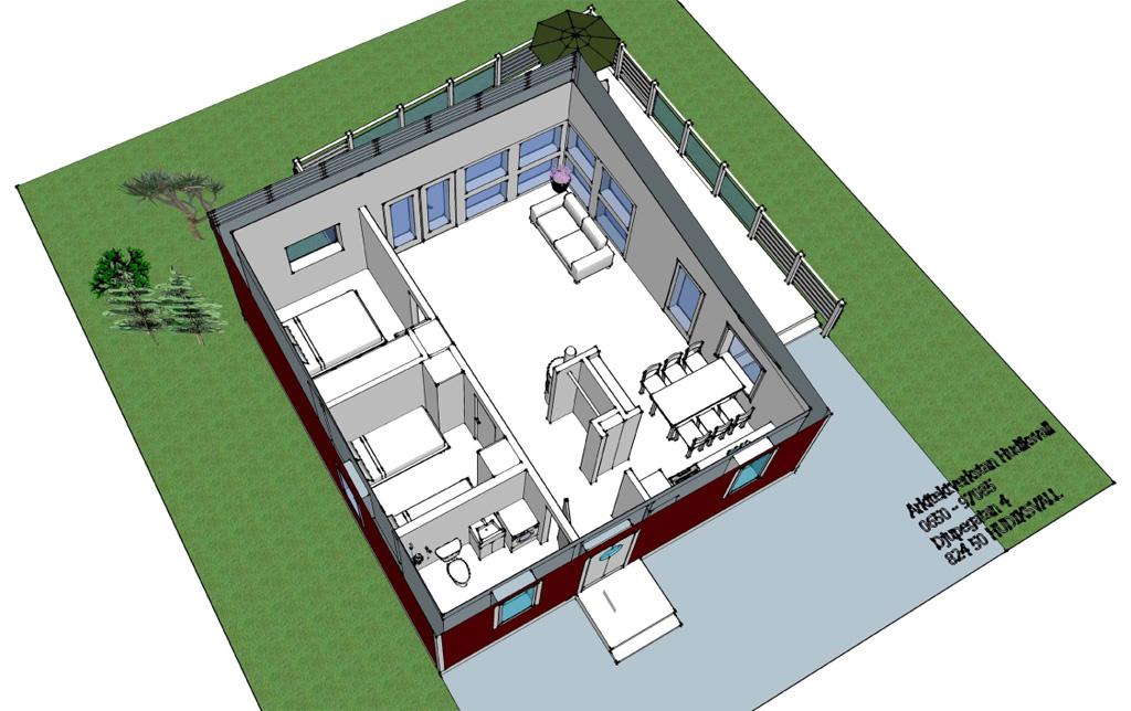 Visualisering av uthyrningsstugornas planlösning