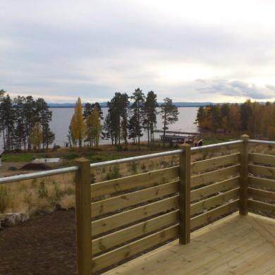 Utsikt från altanen på tomt C14