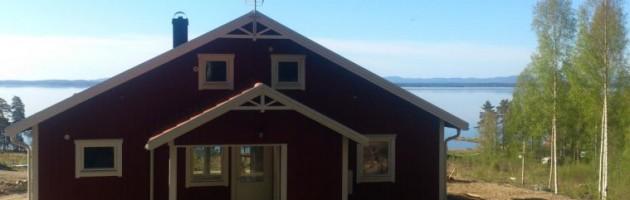 Husets fasad mot norr