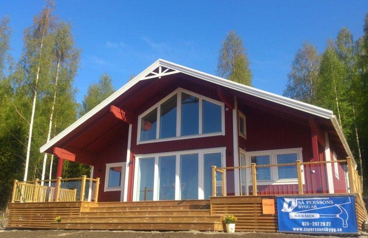 Husets fasad från söder